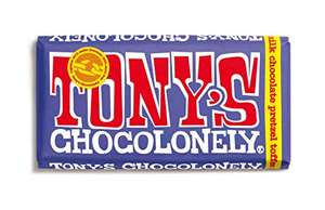 Tony's Chocolonely 180g Chocolate Bars Various Flavours - £2.80 (+£4.49 Non Prime) at Amazon