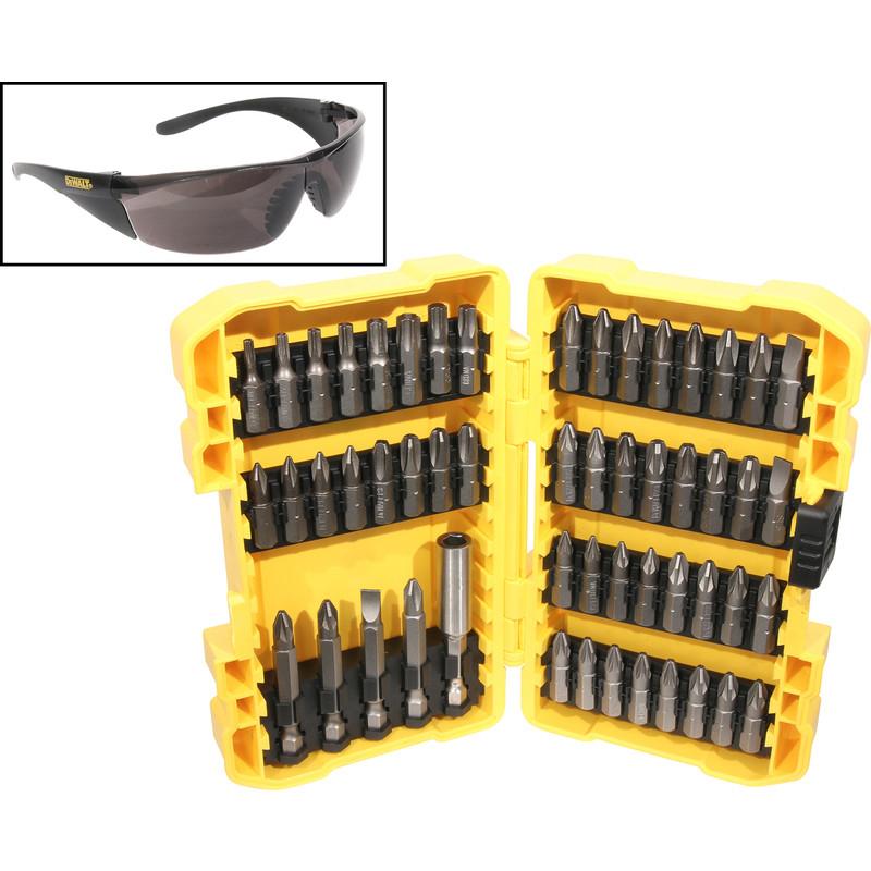 DeWalt Screwdriver Bits & Safety Glasses Set 53 Piece £19.99 at Toolstation