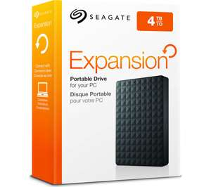 "SEAGATE Expansion Portable Hard Drive USB 3.0 Portable 2.5"" - 4 TB Black - £73.59 delivered with code @ Currys PC World / eBay"
