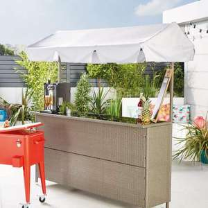 Rattan Garden Bar £199.99 + £6.95 delivery @ ALDI (From 9th May)