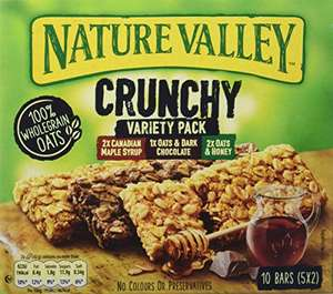Nature Valley Crunchy Variety Pack / Peanut Butter Cereal Bars 5 x 42g (Pack of 5, total 25 Bars) £5 (£4.50 S&S) @ Amazon Prime (+ £4.49 NP)