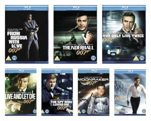 Selection of James Bond Blu-Rays £3.19 / £3.29 / £3.59 new delivered @ Music Magpie