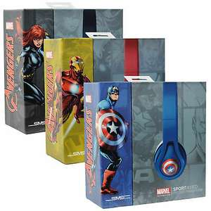 Marvel Collectors Edition Original SMS Audio Sport Wired Microlite Headphones with Mic - £16 with code @ Kelsus-tm eBay - UK Mainland