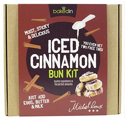 Bakedin Iced Cinnamon Bun Kit 615g - All The Dry Ingredients (min quantity: 2) - £6.16 Prime / +£4.49 non Prime @ Amazon