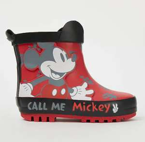 Selected Kids Wellies half price @ George ASDA Free click & Collect e.g Disney Mickey Mouse Red Wellington Boots £5