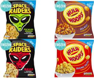 Hula Hoops® Original Salted OR Beef Potato Shapes 650g / Space Raiders® Pickled Onion OR Beef Flavour Potato Shapes £1 @ Iceland (Online)