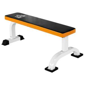 HOMCOM Barbell Flat Fitness Bench Press Dumbbell Weight Lifting Abs Workout Gym - £47.99 with code @ outsunny / eBay