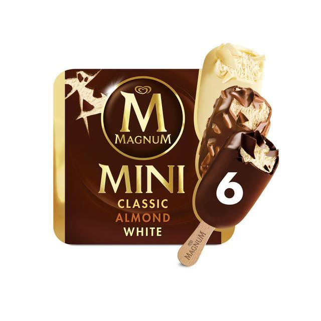 Magnum 6 X Mini Ice Cream (Classic, Almond & White) £2.50 @ Sainsbury's