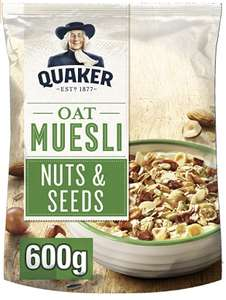 Quaker Oat Muesli Nuts & Seeds 4 packs - £8 (+£4.49 Non-Prime) @ Prime