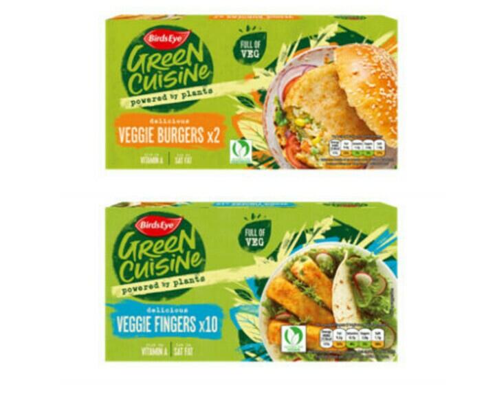 Birds Eye Green Cuisine 2 Veggie Burgers 250g / Birds Eye Green Cuisine 10 Veggie Fingers 284g - 75p @ Asda