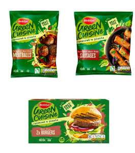 Birds Eye Green Cuisine Meat Free Sausages x6 300g / Meatballs 280g / Burgers x2 200g £1.50 (Minimum Basket / Delivery Applies) @ Sainsburys