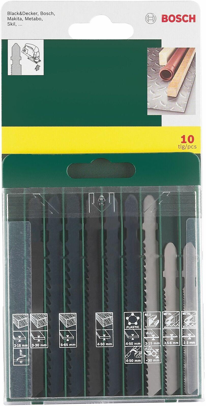 Bosch 10 Piece Jigsaw T-Shank Blade Set - £6 Free Click & Collect Only (UK Mainland) @ Argos / eBay