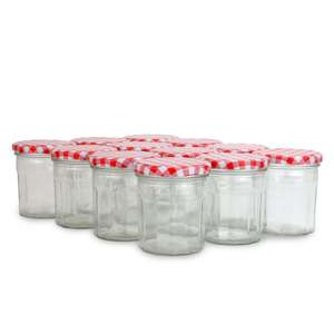 Set of 12 Wide Mouth Glass Jam Jars £9.94 delivered @ROOV