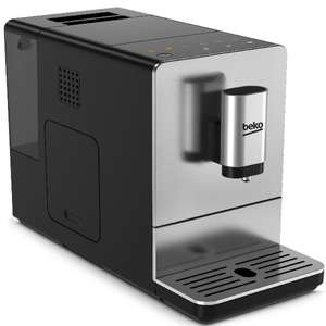 Beko CEG5301X Bean to Cup Stainless Steel Coffee Machine - Black and Silver £232.99 Robert Dyas