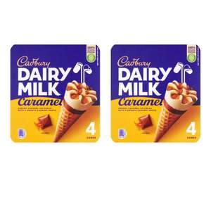 2 packs of Cadbury Dairy Milk Caramel Ice Cream Cones 4 x 100ml £3 @ Morrisons