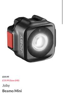Joby Beamo Mini Led Light for phones £19.99 at Very - free Click and Collect / £3.99 delivery