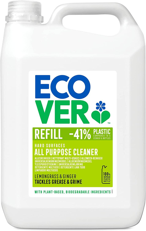 Ecover All Purpose Cleaner Lemongrass & Ginger Refill, 5L - £7.49 (Prime) delivered (+£4.49 Non Prime) @ Amazon