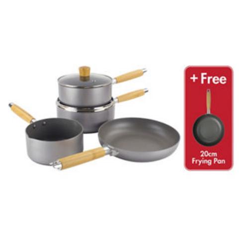 Scoville Go Eco 4 + 1 Piece Cookware Set + 5 year guarantee - £32 @ Asda