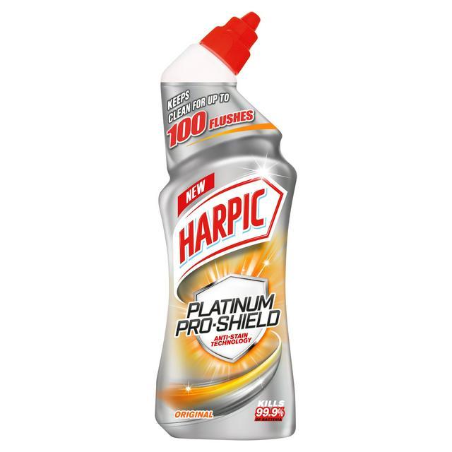 Harpic Platinum Pro Shield Toilet Cleaner 750ml Original Scent - 10p (Minimum basket / Delivery fee applies) @ Asda