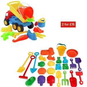Chad Valley Sand toy sets 2 for £15 with Click and Collect (or +3.95 delivery) @ Argos