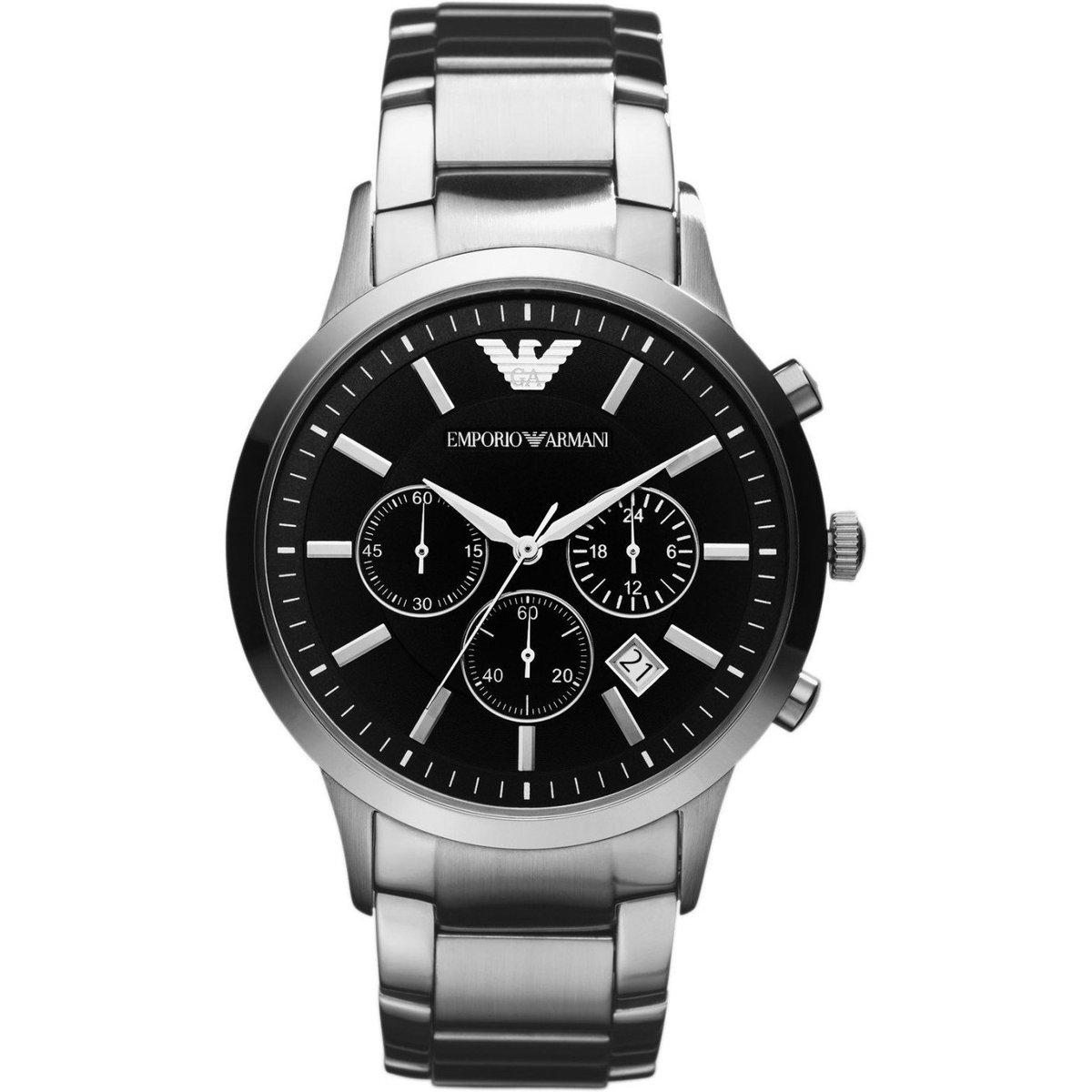 Emporio Armani AR2434 Men's Black Chronograph Watch £88 delivered using code @ Watch Pilot