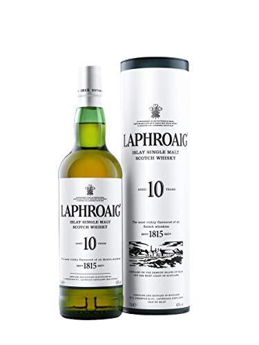 Laphroaig 10 Year Old Islay Single Malt Whisky, 70cl - £28 @ Amazon