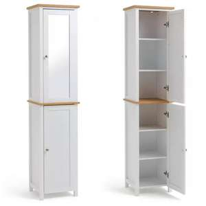 Argos Home Livingston Tallboy With Mirrored Top Half - White - £63 Click & Collect / £67.95 Delivered @ Argos