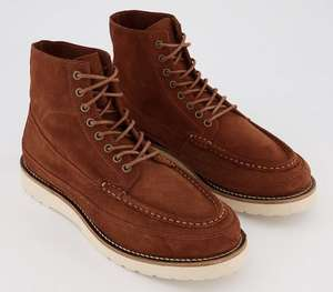 Office Bulb lace-up boots for men in rust or black suede for £35 click & collect (+£3.99 delivery to UK Mainland) @ Office