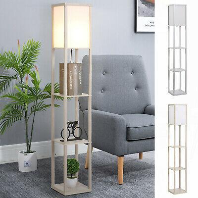 4-Tier Floor Lamp Standing Lamp with Shelves in Acrylic / White - £34.39 Using Code (UK Mainland) @ eBay / 2011homcom