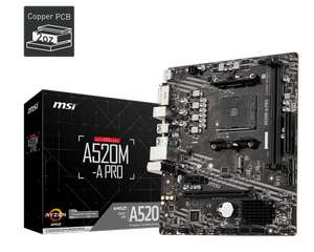 MSI A520M-A Pro Motherboard CPU Bundle (AMD Athlon 3000G Dual Core 3.5GHz) £92.95 @ AWD-IT