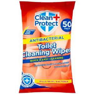 Clean & Protect Antibacterial Toilet Wipes 50pk 49p @ B&M Small Heath