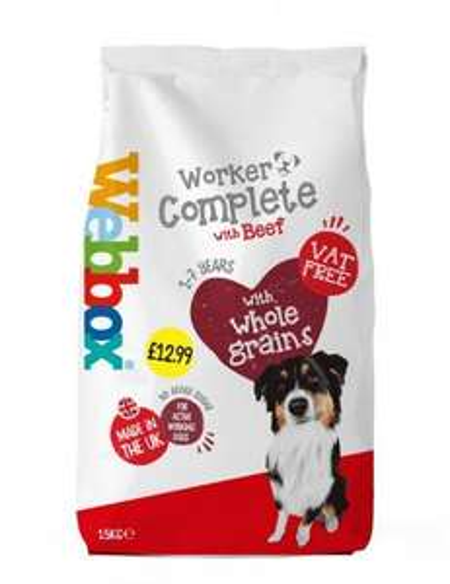 Webbox Complete Beef Dog Biscuits 15KG for £6.99 at Home Bargains Halifax