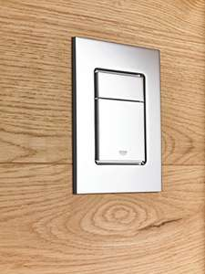 GROHE Skate Cosmopolitan S | Toilet Flush Plate | Small 130 x 172 mm | Super Steel | Used - Like New £22.54 @ Amazon warehouse
