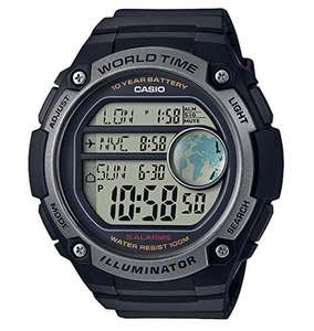 Casio Collection Unisex Adults Watch AE-3000W 3 World Time Zone - £22.49 at Amazon