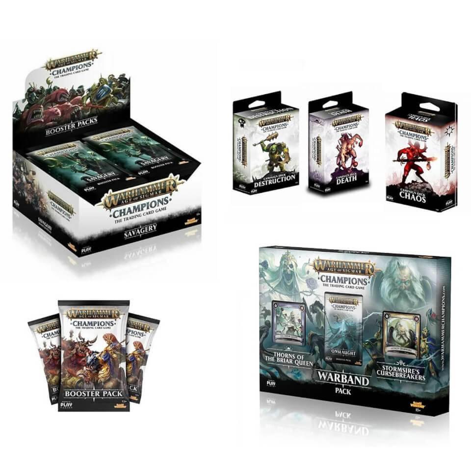 Warhammer Age of Sigmar Deluxe Trading Card Game Mega Bundle £49.99 + £1.99 delivery @ Zavvi