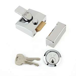 Yale P-85-CH-CH-40 Deadlocking Nightlatch, High Security, Automatic Deadlock, Polished Chrome Finish 40mm Backset £21.63 delivered at Amazon