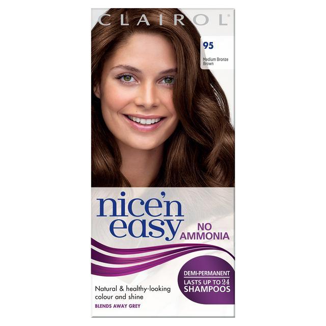 Clairol Nice'n Easy Semi-Permanent Hair Dye No Ammonia 95 Medium Bronze Brown - 80p instore @ Asda, Portsmouth