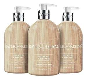 Baylis and Harding Elements Oud Wood and Bergamot, 500ml Hand Wash, Pack of 3 £4.50 / £4.28 S&S (Prime) + £4.49 (non Prime) at Amazon