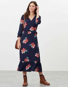 Joules Womens Chloe Fixed Wrap Dress - Navy Peony £21.95 delivered @ Joules eBay