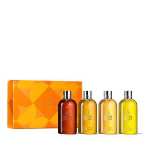 Molton Brown 4 Piece Body Wash Collection with Gift Box - £42.96 (+£3.95 Postage) @ QVC additional £5off for new customers FIVE4U