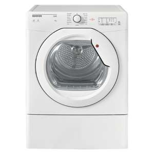 Hoover HLV8LG 8KG Vented Tumble Dryer £159.99 delivered with code (UK Mainland) @ hughes_electrical / ebay