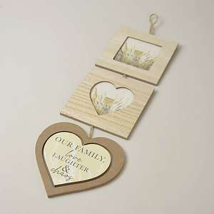 Multi Photo Frame Plaque - £4 (Free Click and Collect Limited Stores) @ Dunelm