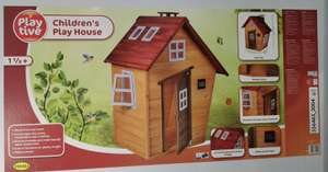 Childrens wooden play house (wooden floor, chimney, window, writable door sign) - £149 Instore @ Lidl Milton Keynes