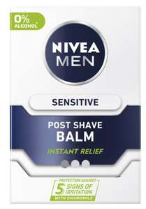 NIVEA MEN Sensitive Post Shave Balm with 0% Alcohol, 100ml - £2.67 @ Boots, nationwide/ £3.50 delivery)