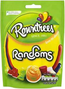 Rowntree's Randoms Sweets Sharing Pouch, 150g 89p (85p s+s) + £4.49 Non Prime @ Amazon
