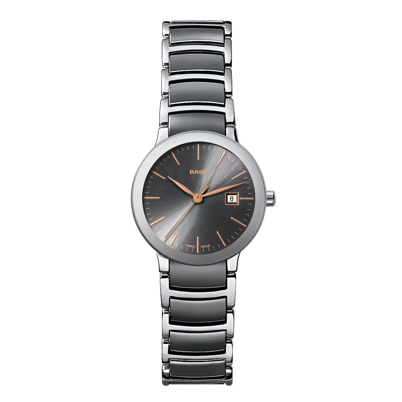Rado Centrix Ladies' Steel & Grey Ceramic Bracelet Watch £889 @ Ernest Jones