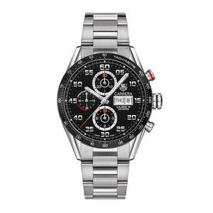 TAG Heuer Carrera 16 Men's Stainless Steel Bracelet Watch + Receive a complimentary Wolf Watch Winder £2950 @ Ernest Jones
