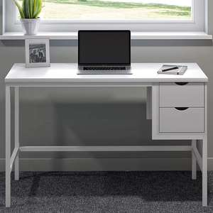 Office Hippo Desk with 2 Drawers, White, 120 x 48 x 77 cm - £58.99 delivered @ Amazon