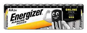Energizer AA Batteries, Alkaline Power Double A Batteries, 24 Pack £6.99 (Prime) + £4.49 (non Prime) at Amazon