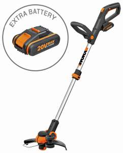 WORX WG163E 18V 20V MAX Cordless Grass Trimmer with 2 Batteries + 3 year guarantee £85 (Click & Collect) @ Argos